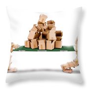 Recycling Boxes By Box Characters And Stretcher Throw Pillow