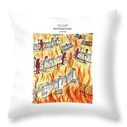 Recycling In Hell Unbent Paper Clips Throw Pillow