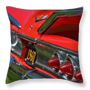 Red 1960 Chevy Throw Pillow