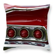Red 1960 Chevy Tail Light Throw Pillow
