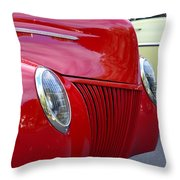 Red 40 Ford Throw Pillow