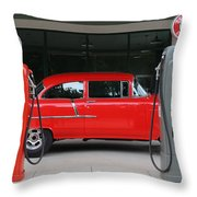 Red 55 Throw Pillow