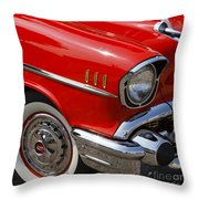 Red '57 Throw Pillow