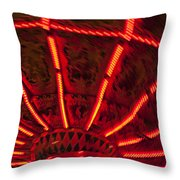 Red Abstract Carnival Lights Throw Pillow