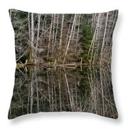 Red Alders Throw Pillow