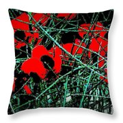Red An Black Poppies 1 Throw Pillow