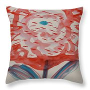 Red And Baby Blue Throw Pillow