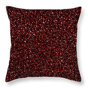 Red And Black Circles Throw Pillow