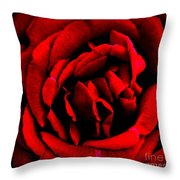 Red And Black Layers Throw Pillow