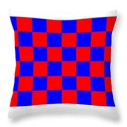 Red And Blue Checkered Flag Throw Pillow