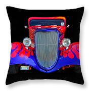 Red And Blue Custom Throw Pillow