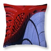 Red And Blue Fantasy Throw Pillow