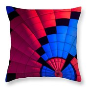 Red And Blue Pattern Throw Pillow