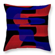 Red And Blue Ribbons Throw Pillow