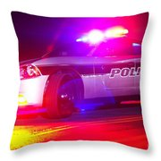 Red And Blues Throw Pillow by Brian Druggan