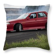Red And Drift Hard Throw Pillow