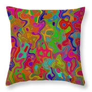 Red And Gold Abstract Throw Pillow