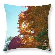 Red And Gold And Blue Throw Pillow