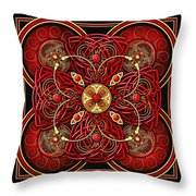 Red And Gold Celtic Cross Throw Pillow