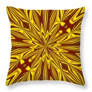 Red And Gold Christmas Kaleidescope Throw Pillow