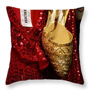 Red And Gold Holiday Throw Pillow
