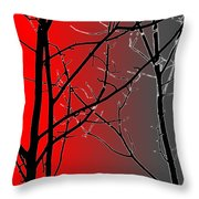 Red And Gray Throw Pillow
