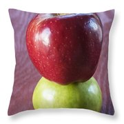 Red And Green Apples Throw Pillow