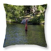 Red And Green Buoys Throw Pillow