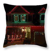Red And Green Christmas Throw Pillow