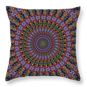 Red And Purple Flowers Throw Pillow