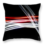 Red And Silver Throw Pillow