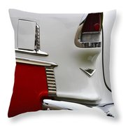 Red And White 1955 Chevy Throw Pillow