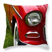Red And White 50's Chevy Throw Pillow
