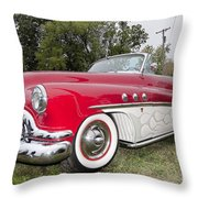 Red And White Classic Throw Pillow