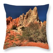 Red And White Desert Towers Throw Pillow