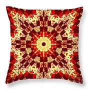Red And White Patchwork Art Throw Pillow