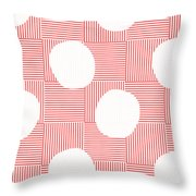 Red And White Poof  Throw Pillow