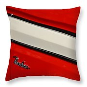 Red And White Ranchero Throw Pillow