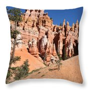 Red And White Rocks - Bryce Canyon Throw Pillow