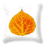 Red And Yellow Aspen Leaf 6 Throw Pillow