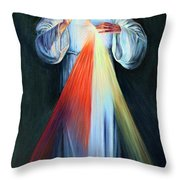 Red And Yellow Lights Throw Pillow