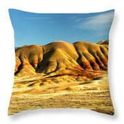 Red And Yellow Painted Hills Throw Pillow