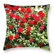 Red And Yellow Roses Throw Pillow