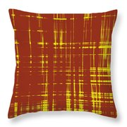 Red And Yellow Wave No 1 Throw Pillow