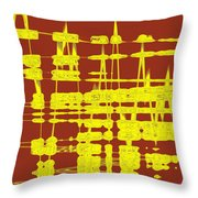 Red And Yellow Wave No 3 Throw Pillow
