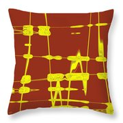 Red And Yellow Wave No 4 Throw Pillow