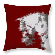 Red Andalusian Throw Pillow