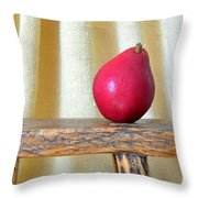Red Anjou Pear Throw Pillow