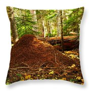 Red Ants Nest Throw Pillow