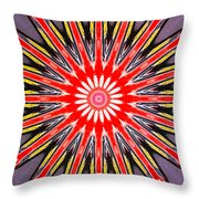 Red Arrow Abstract Throw Pillow